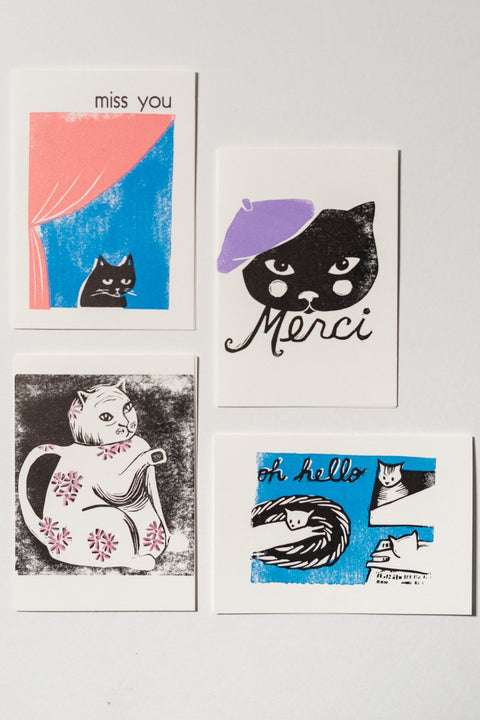 Loaded Hips Press Kitty Cards Set
