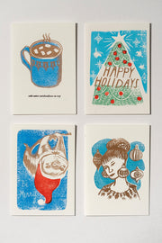 Loaded Hips Press Mixed Holiday Card Set