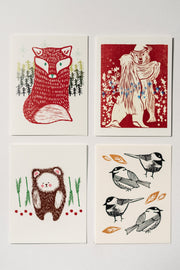 Loaded Hips Press Animal Holiday Card Set
