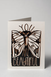 Loaded Hips Press Good Vibes Card Set You Are Beautiful Card