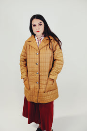 Camel Quilted Puffer Jacket