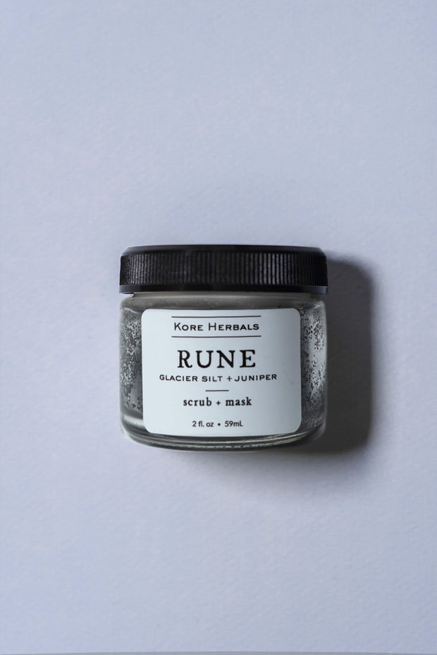 Kore herbals - rune on blue