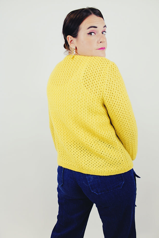 Yellow Button-up Cardigan