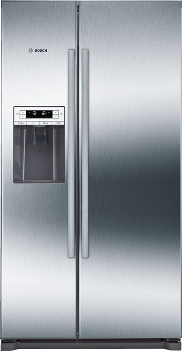 Bosch Serie | 6 American-style fridge freezer Stainless Steel EasyClean door and grey side panels KAI90VI20G
