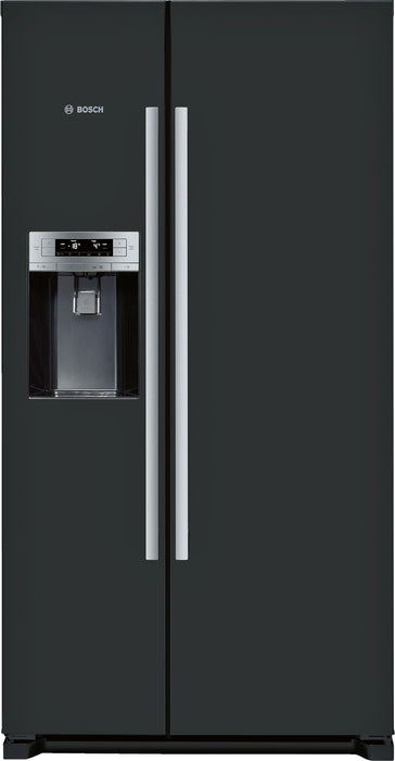 Bosch Serie | 6 American-style fridge freezer Black door and black side panels KAD90VB20G