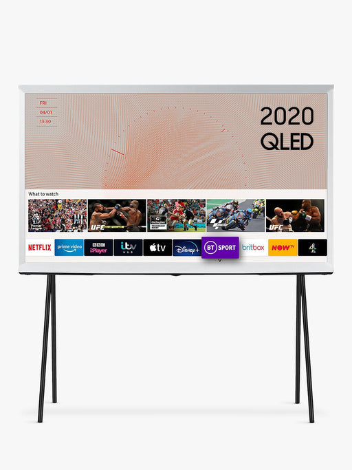 "Samsung QE49LS01TA The Serif 49"" QLED 4K HDR Smart TV In White"