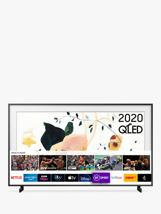 "Samsung QE43LS01TA The Serif 43"" QLED 4K HDR Smart TV In White"
