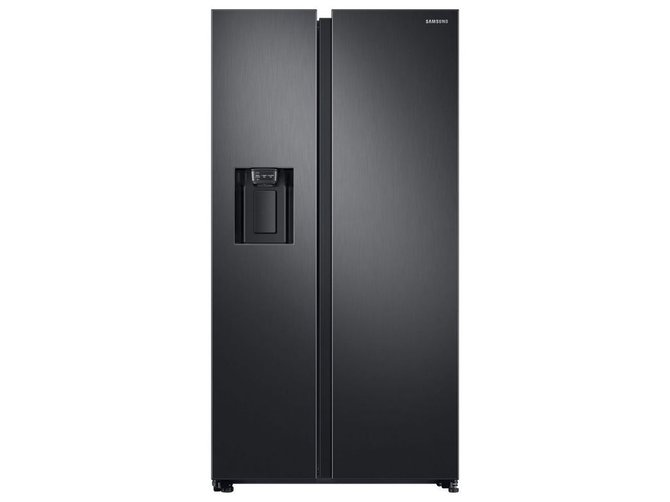 Samsung RS68N8230B1 American Style Frost Free Fridge Freezer with Plumbed Water, Ice Dispenser - Black