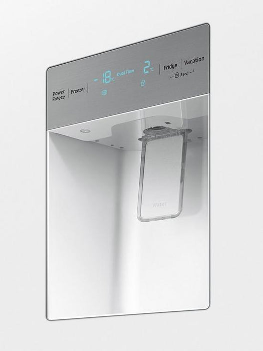 Samsung RS52N3313WW America Style Frost Free Fridge Freezer with Non Plumbed Water Dispenser - White