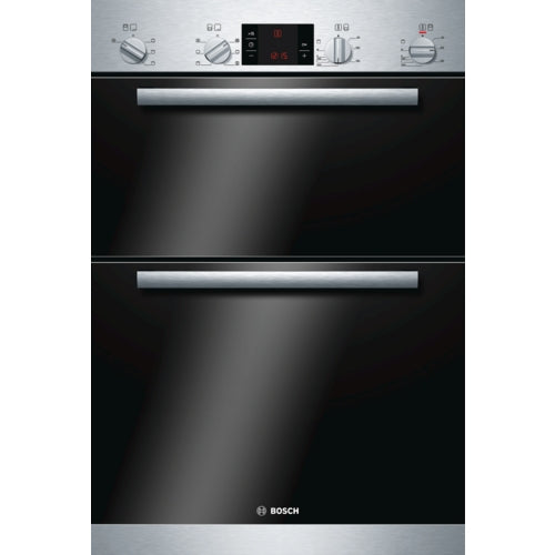 Bosch HBM43B150B  Built in double multi-function oven brushed steel