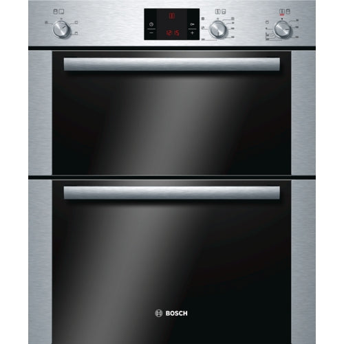 Bosch HBN13B251B Built under double hot air oven brushed steel