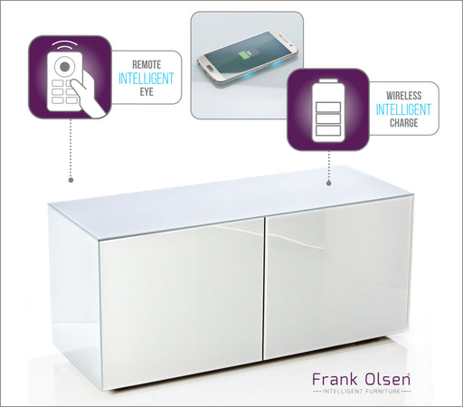 Frank Olsen High Gloss White 1100 unit 55'' screen