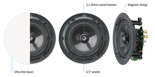"Q Acoustics QI65CP Performance 6.5"" In-Ceiling Speaker"