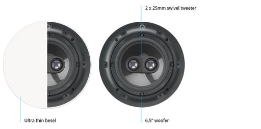 "Q Acoustics QI65CP St Performance 6.5"" In-Ceiling Speaker"
