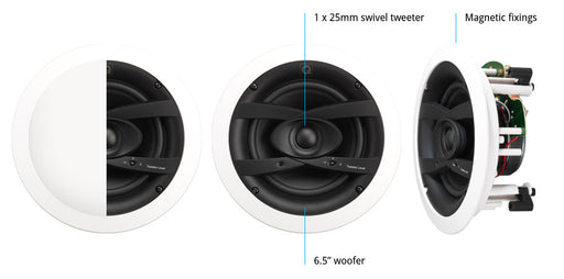"Q Acoustics QI65CW Weatherproof 6.5"" In-Ceiling Speaker"