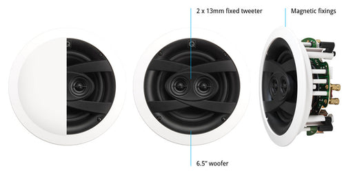 "Q Acoustics QI65CW St Weatherproof 6.5"" In-Ceiling Speaker"