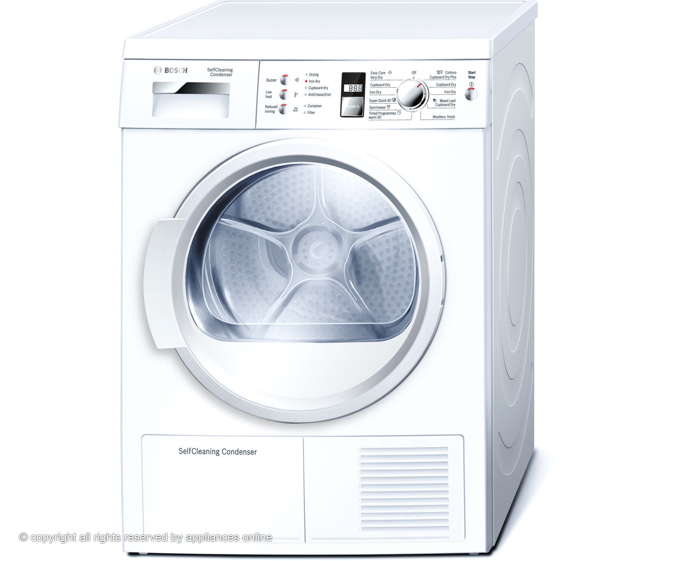 Bosch WTW863S1GB Freestanding Condenser Tumble Dryer - 7Kg
