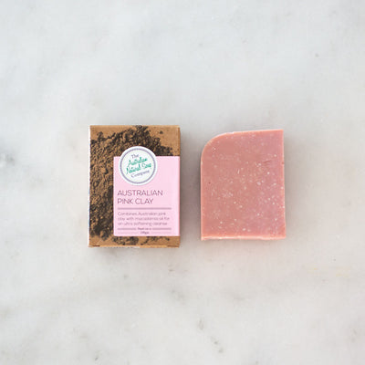 Australian Natural Soap Co Pink Clay Face Cleanser Bar