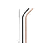 Cheeki Stainless Steel Straws - Bent - 2pk - Rose & Black