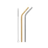 Cheeki Stainless Steel Straws - Bent - 2pk - Silver & Gold