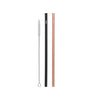 Cheeki Stainless Steel Straws - Straight - 2pk - Rose & Black
