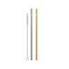 Cheeki Stainless Steel Straws - Straight - 2pk - Silver & Gold
