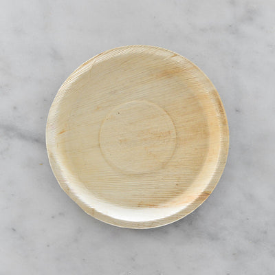 "Biodegradable Palm Leaf Plate - 10"" Round"