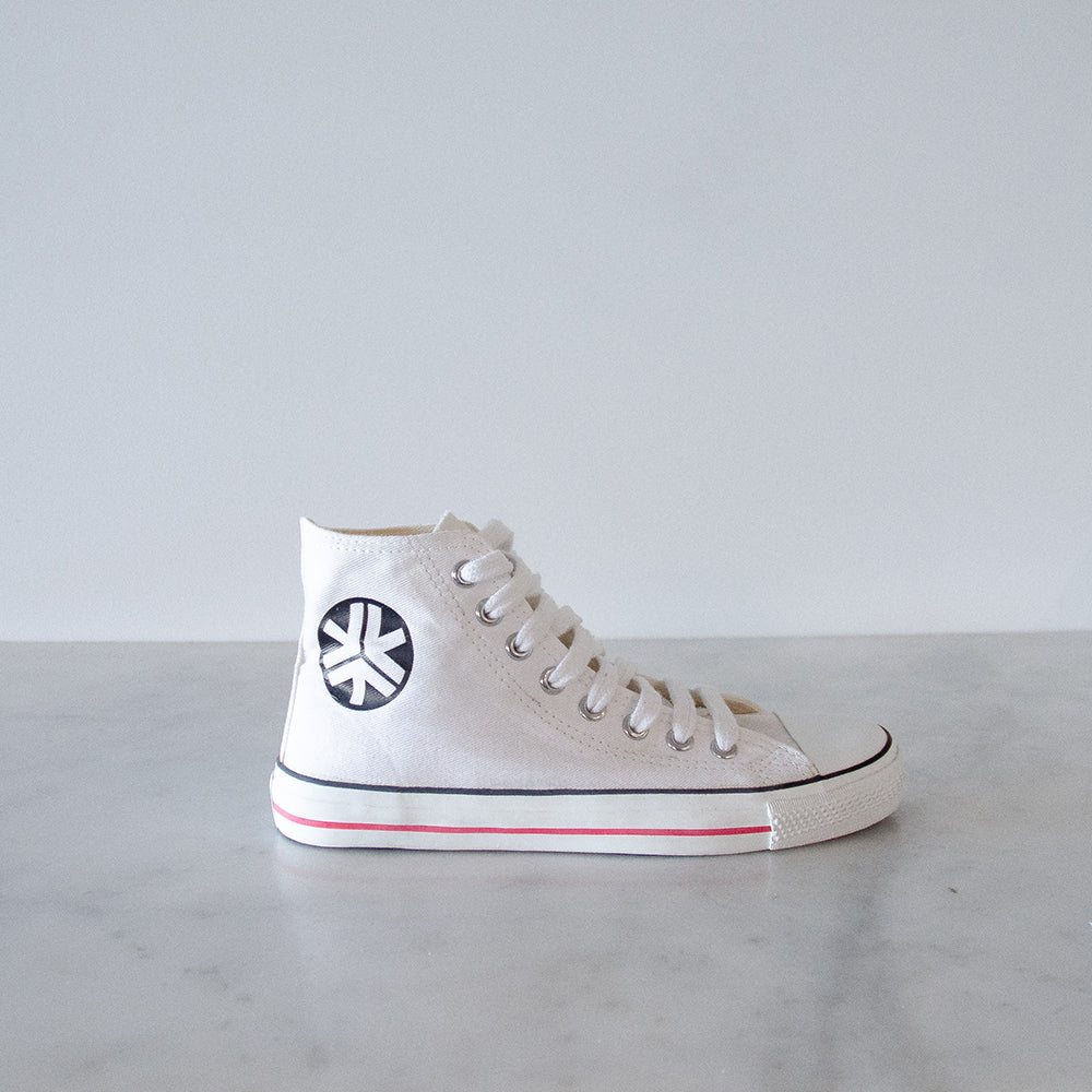 Etiko Organic Fairtrade High Top Sneakers - White