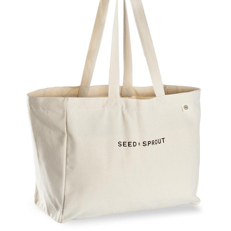 Seed and Sprout Pocket Tote Shopping Bag