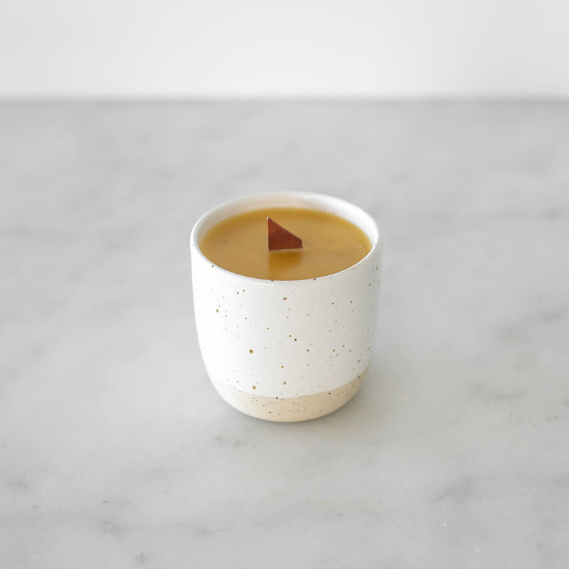 Apiary Made Ceramic Beeswax Candle Vessel