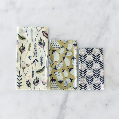 Apiary Made Beeswax Wraps - Fabric Drawer - 3pk