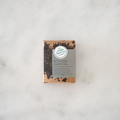 Australian Natural Soap Co Activated Charcoal Face Cleanser Bar