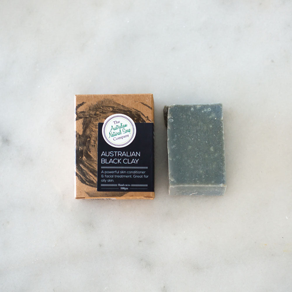 Australian Natural Soap Co Black Clay Face Cleanser Bar