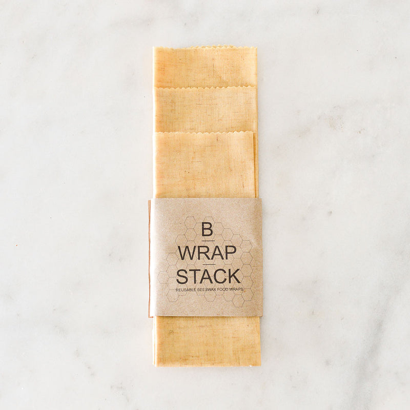 B Wrap Stack Hemp Beeswax Wraps - 3pk