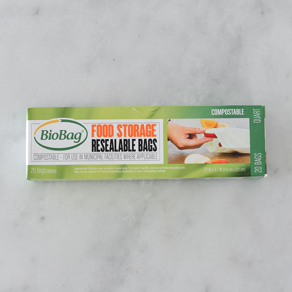 Biobag Compostable Food Storage Bags - 20 pack