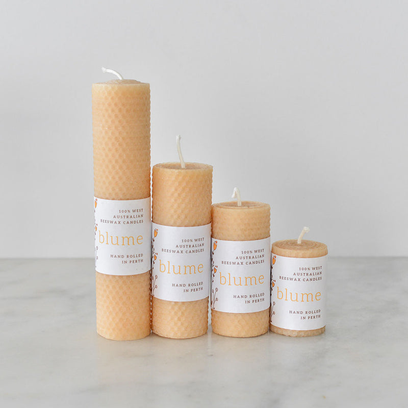 Blume Beeswax Candle - Lumina Pillar