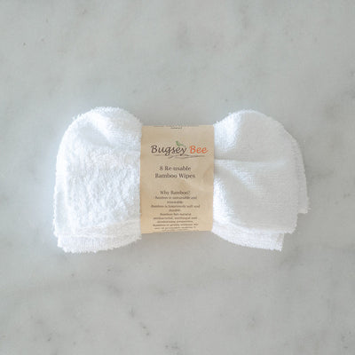 Bugsey Bee Re-usable Bamboo Wipes