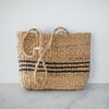 Daisy Water Hyacinth and Seagrass Bag