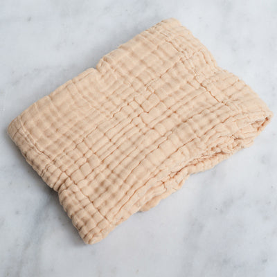 Dove and Dovelet Organic Cotton Quilted Muslin Blanket