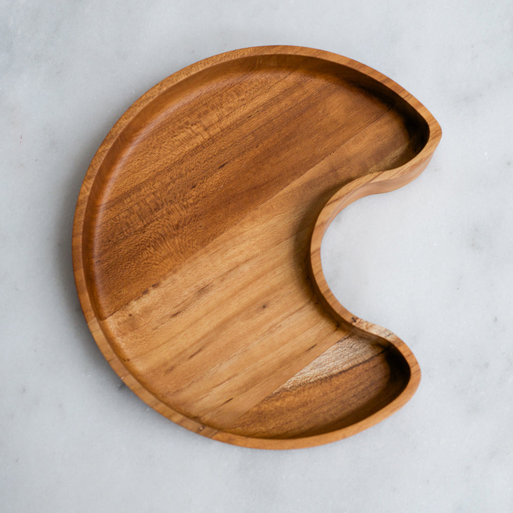 Dove and Dovelet Wood Moon Plate