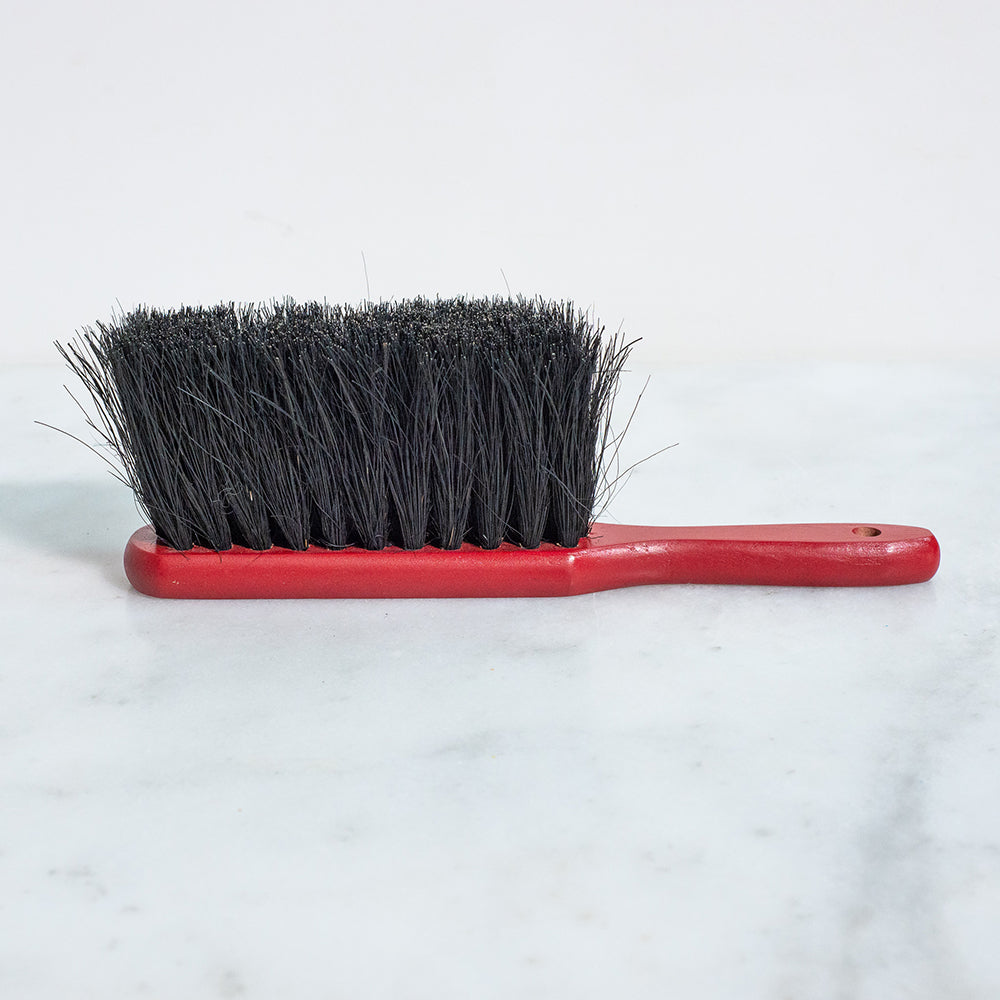 Dustpan Brush - Red with Black Bristles