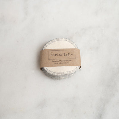 Earth Tribe Reusable Hemp Makeup Rounds