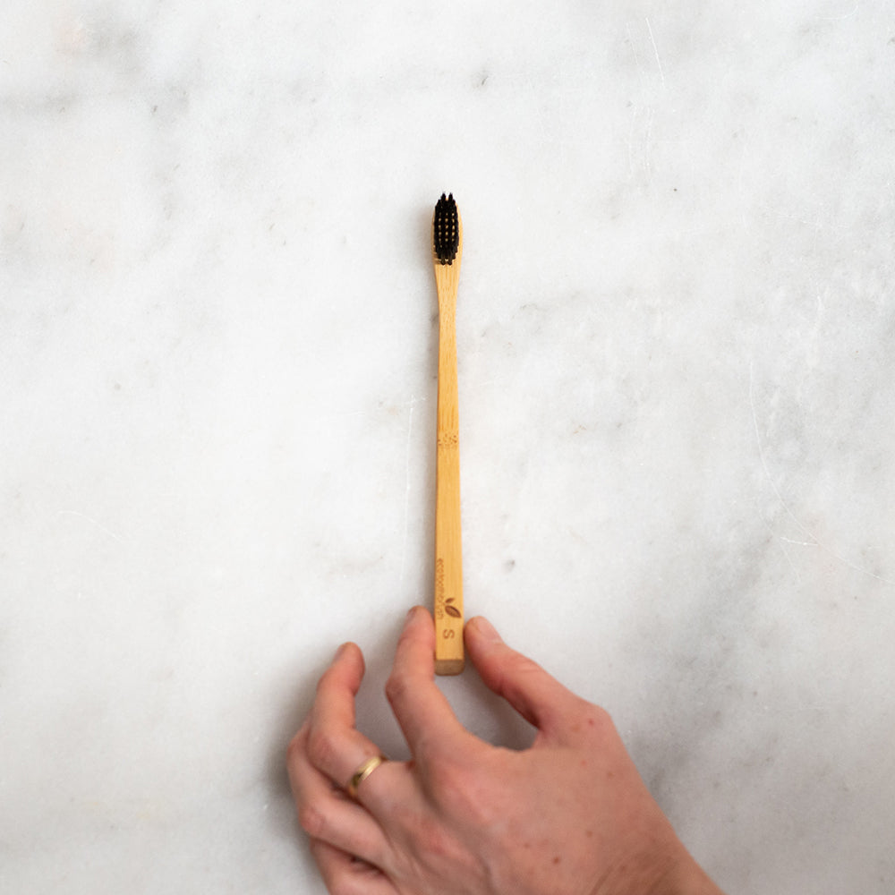 Eco Bamboo Toothbrush with Charcoal Bristles - Soft