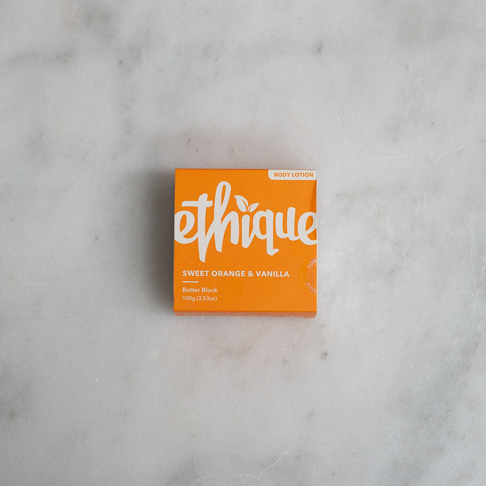 Ethique Solid Body Butter Block - Sweet Orange + Vanilla