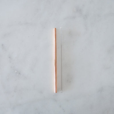 Ever Eco On the Go Pouch Straw- Rose Gold