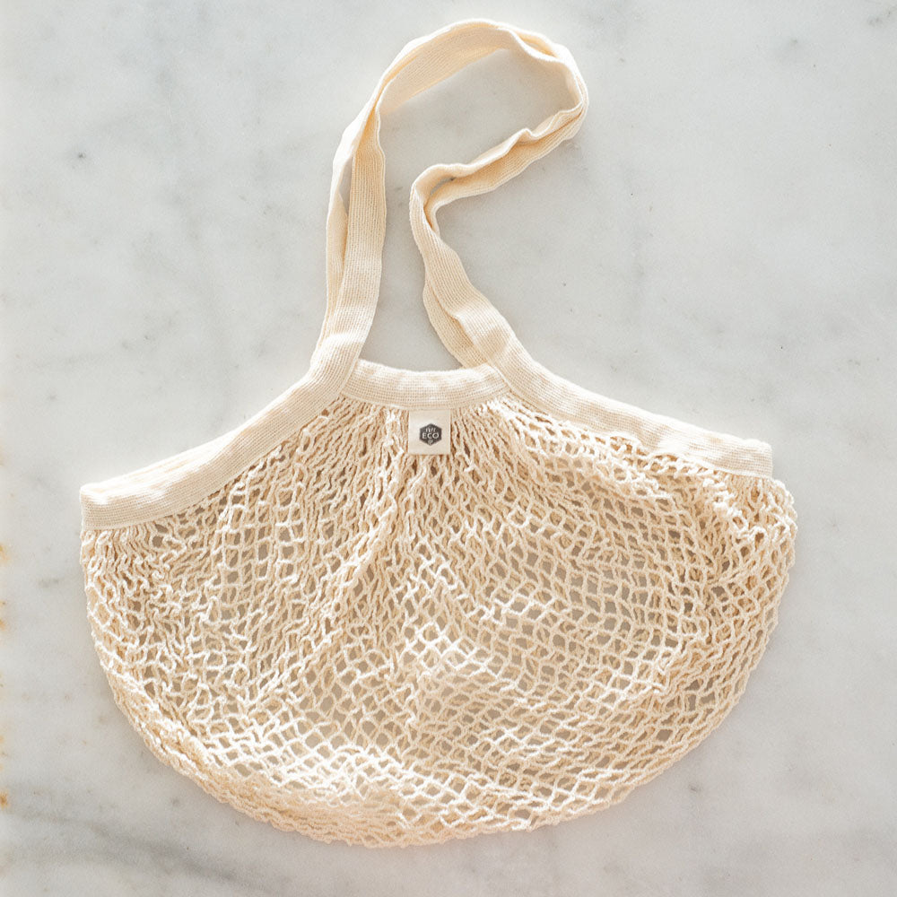 Ever Eco Organic Cotton Net Tote Bag - Long Handle