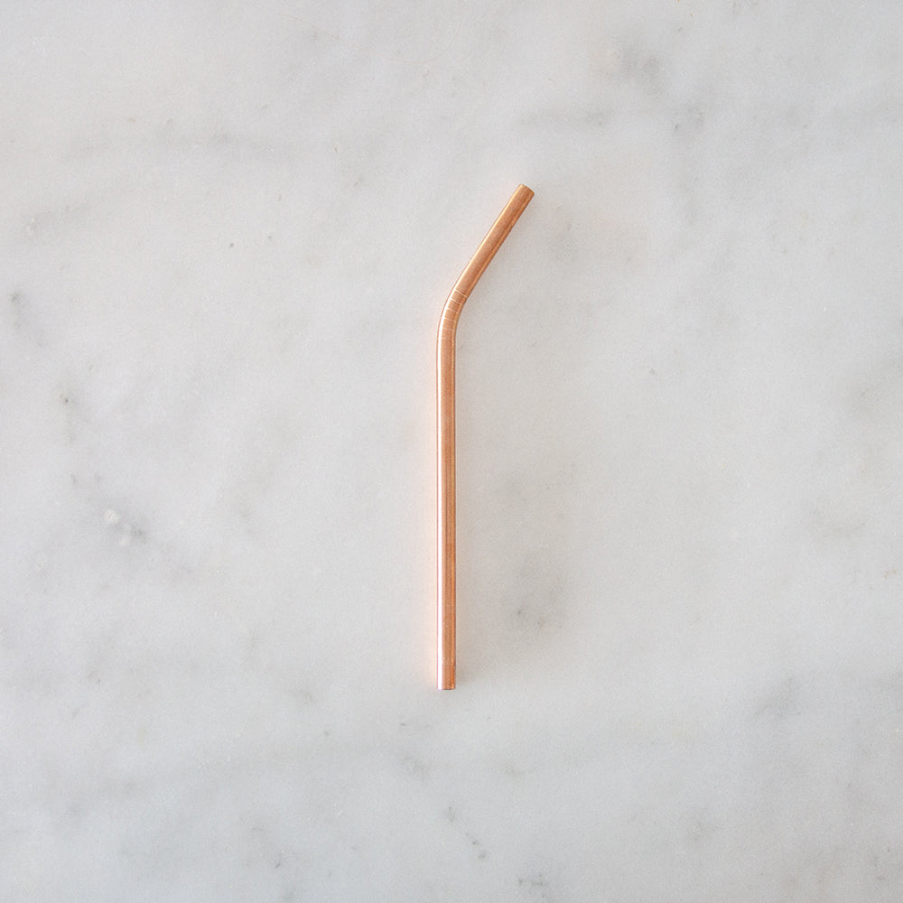 Ever Eco Rose Gold Straw - Bent - Single