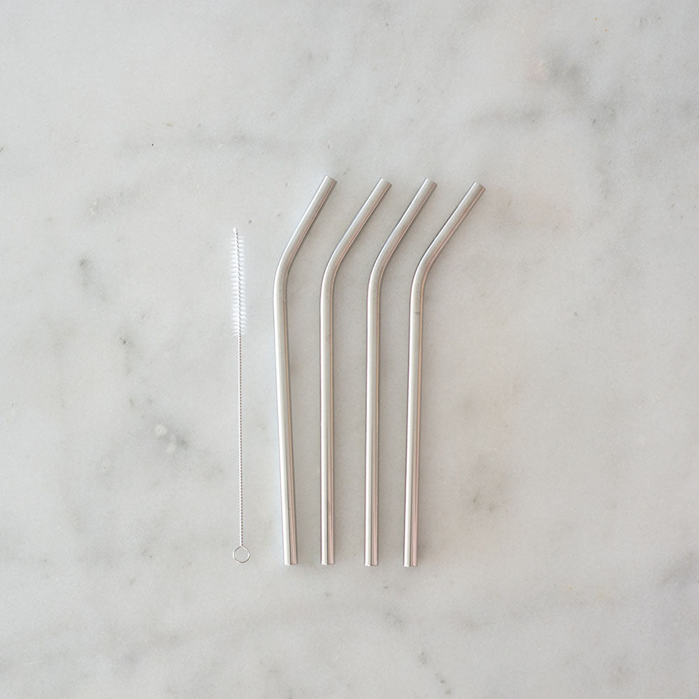 Ever Eco Stainless Steel Straw - Bent - 4pk