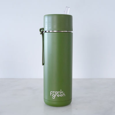 Frank Green Ceramic Reusable Bottle - 20oz - Straw Lid