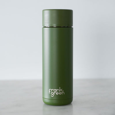 Frank Green Ceramic Reusable Bottle - 20oz - Button Lid